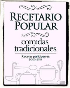 Recetario popular, comidas tradicionales